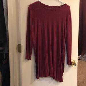 Crimson Red quarter length sleeve top